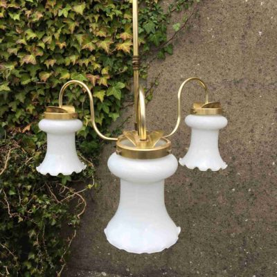 Brass Three Arm Light Fitting