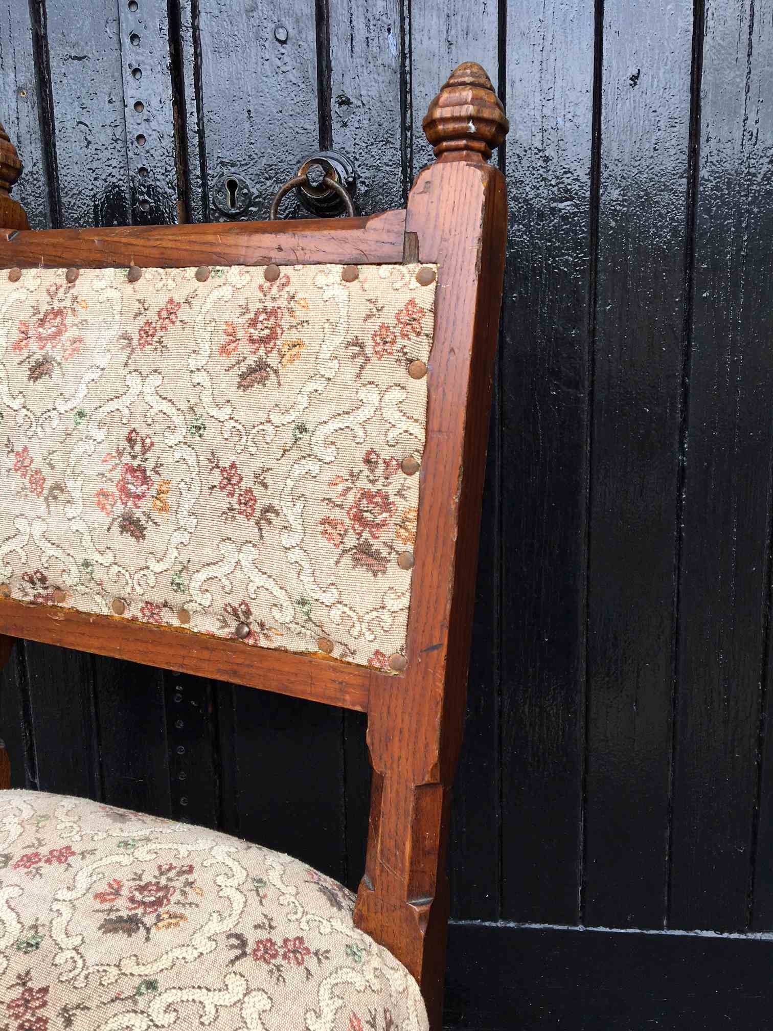 Pair of Gothic Oak Chairs