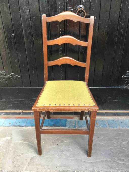 Pair of Oak Ladder Back Chairs