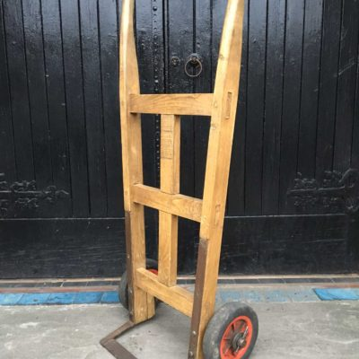 Rustic Wooden Sack Truck Trolley