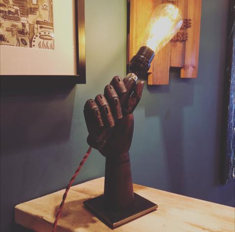 Vintage Mannequin Hand Lamp