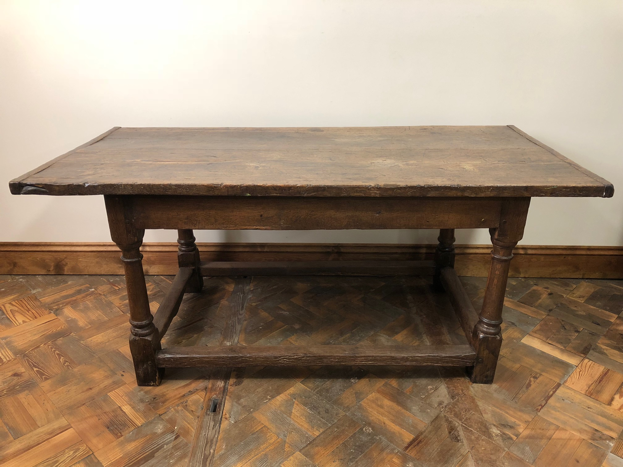 18th Century Two Plank Oak Refectory Table