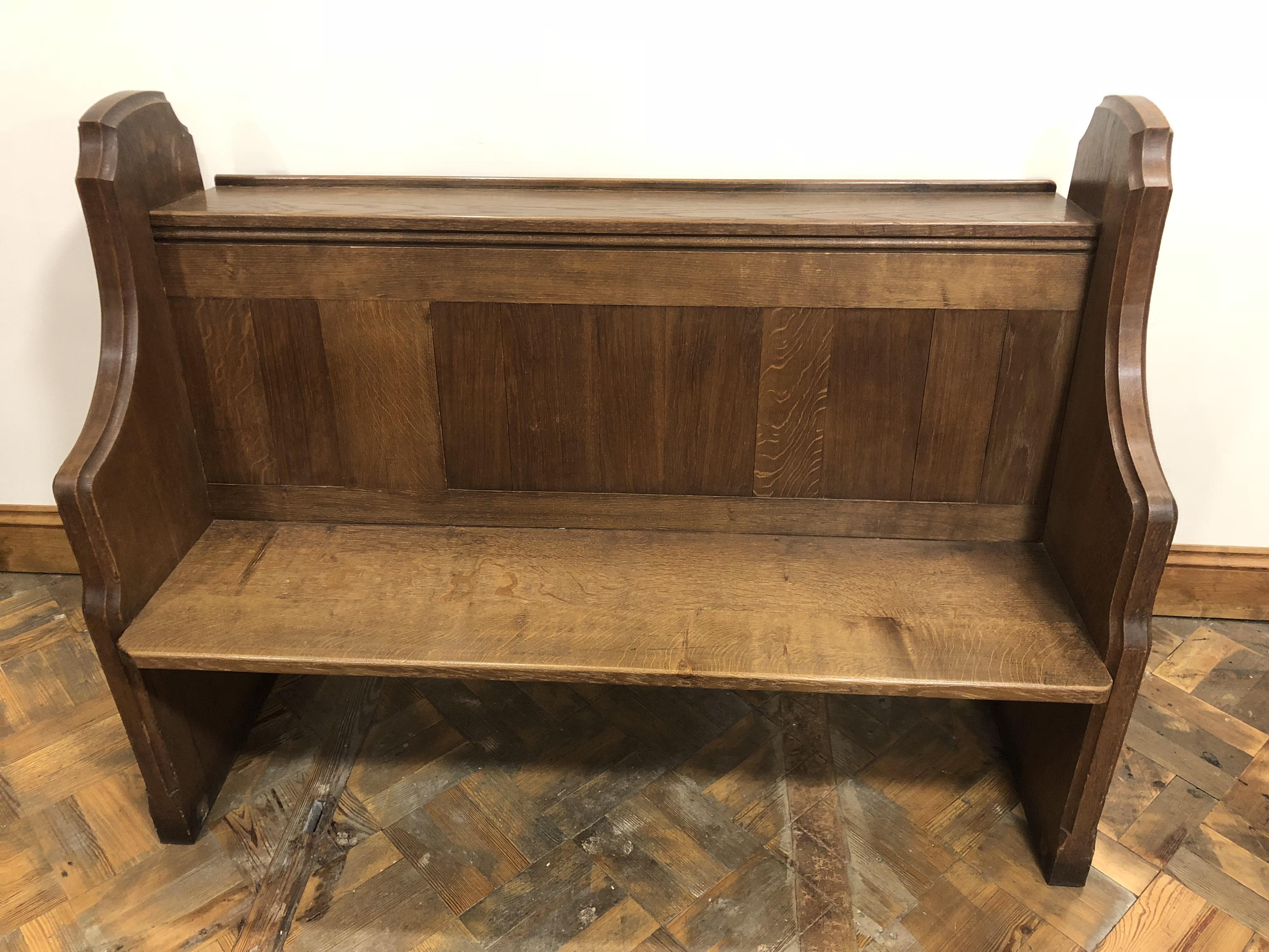 Solid Oak Chorister Church Pew