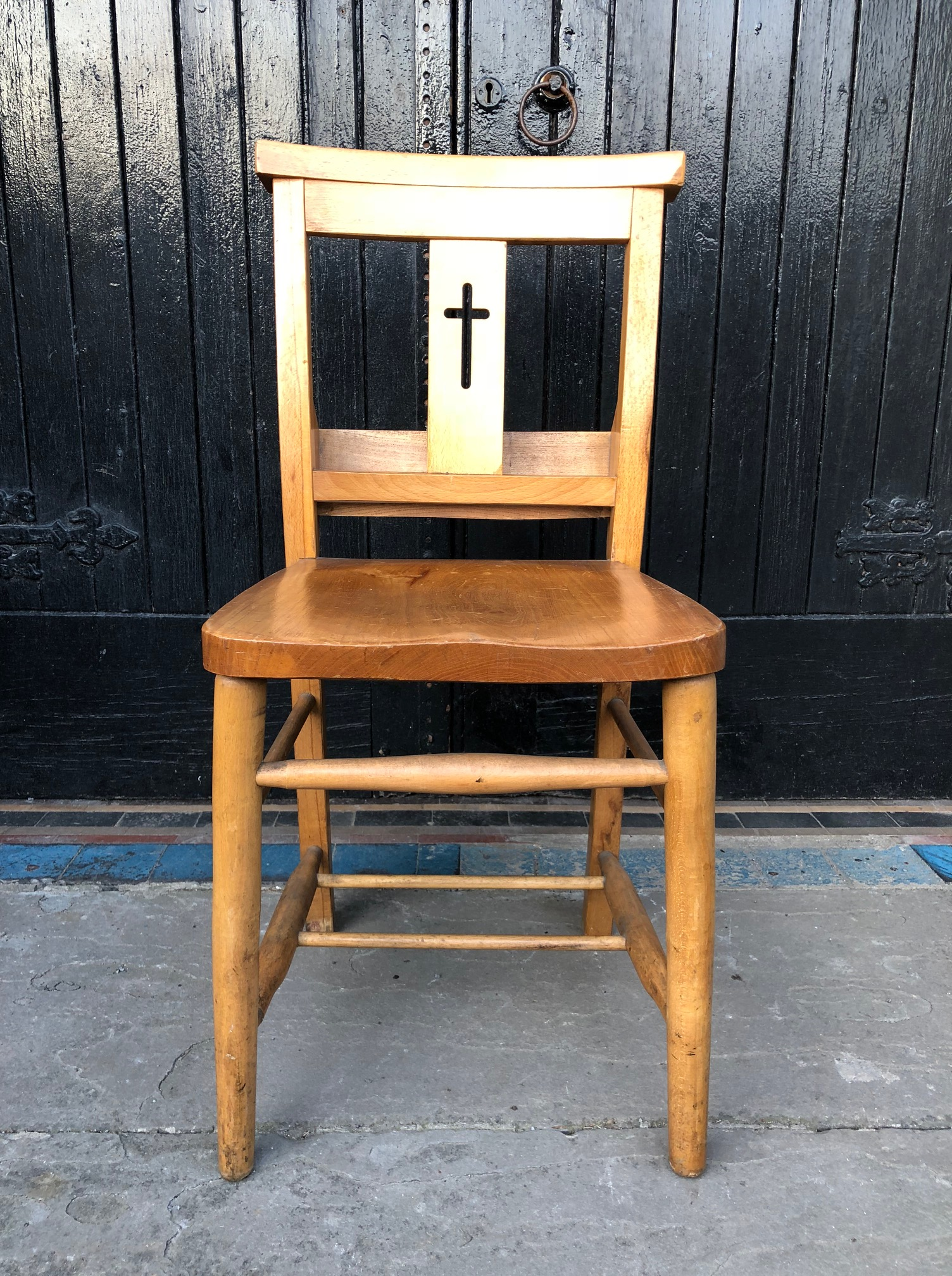 Set of Four Chapel or Church Chairs