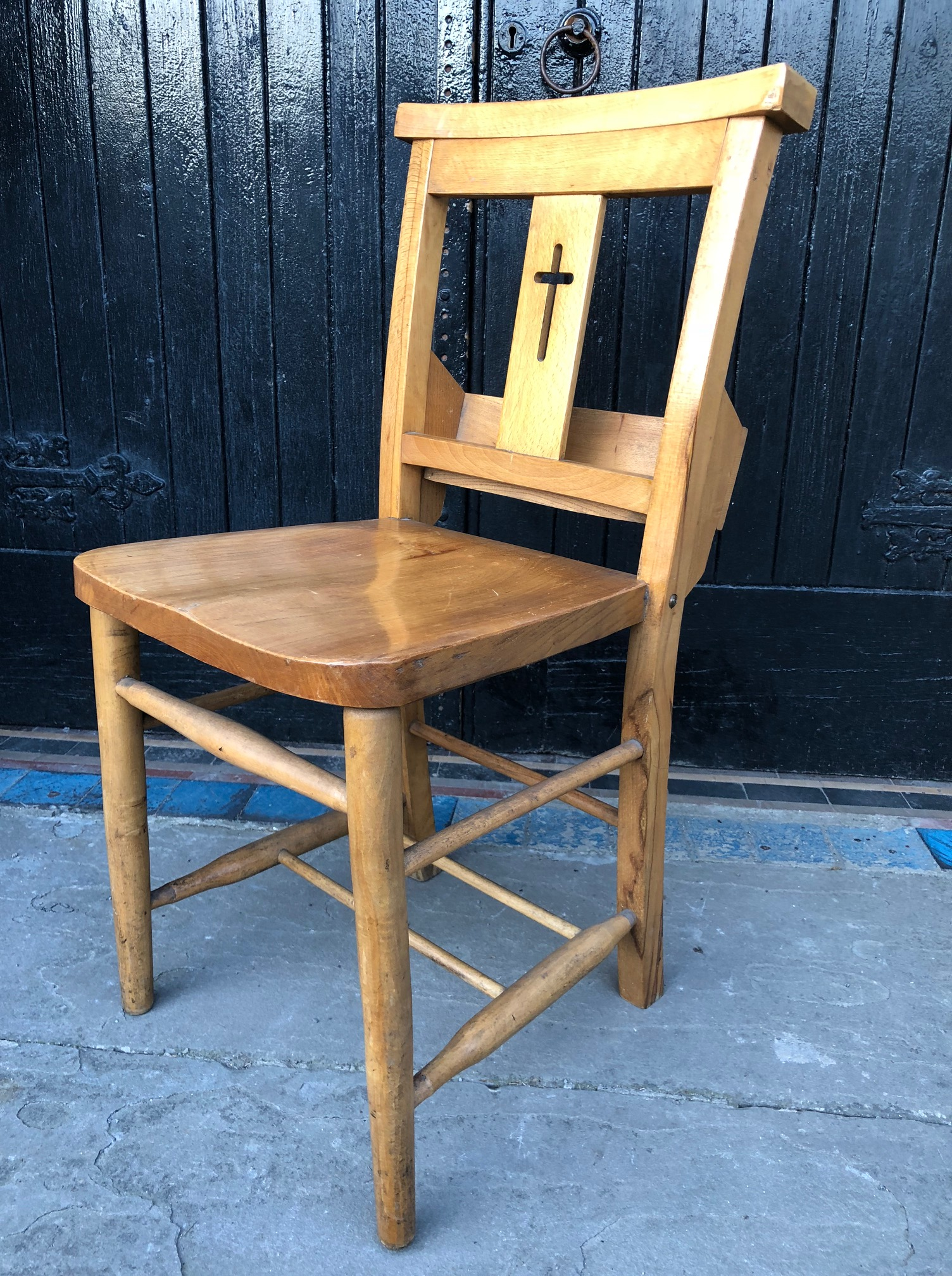 Pair of Chapel or Church Chairs