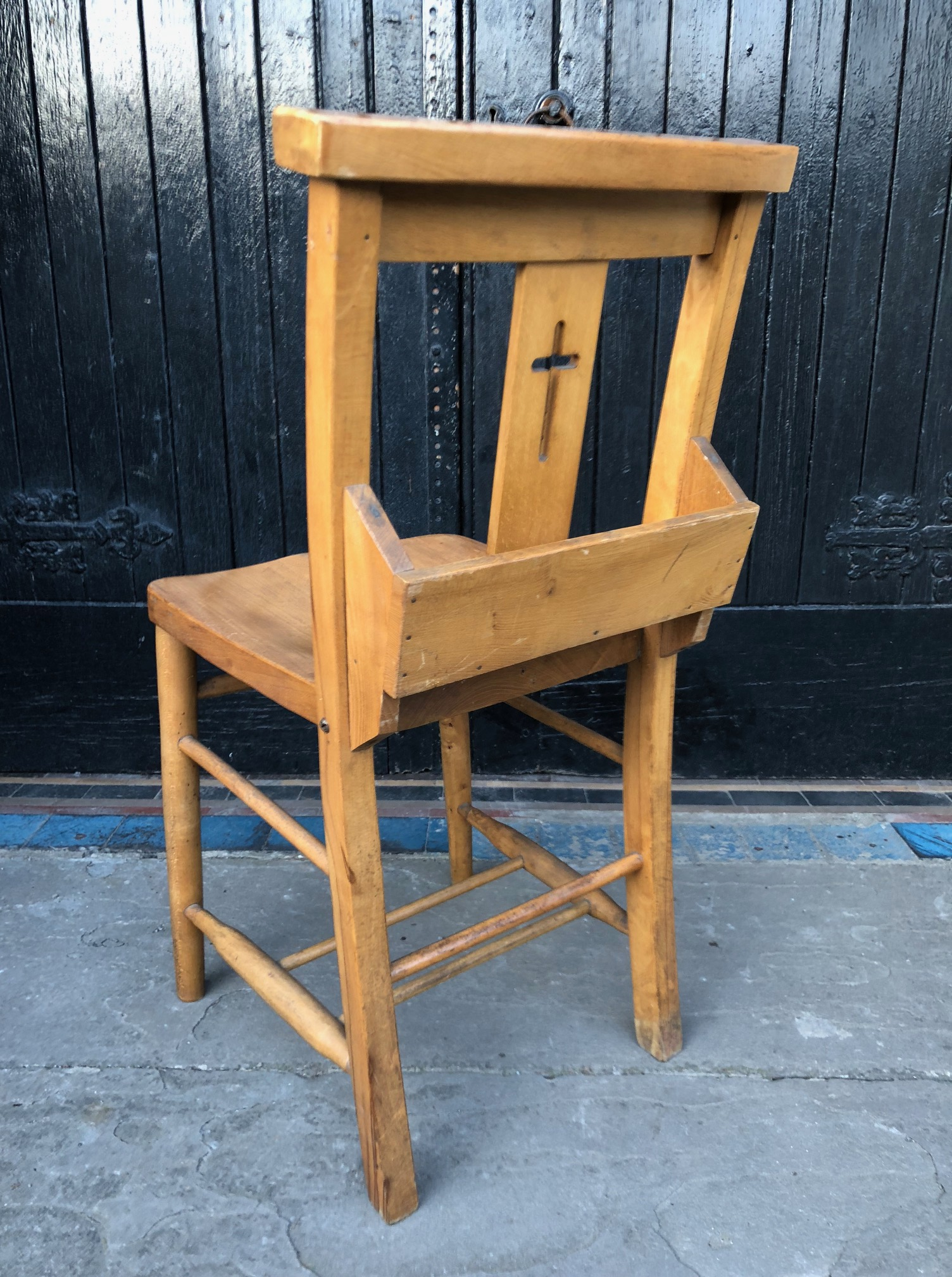 Set of Six Chapel or Church Chairs