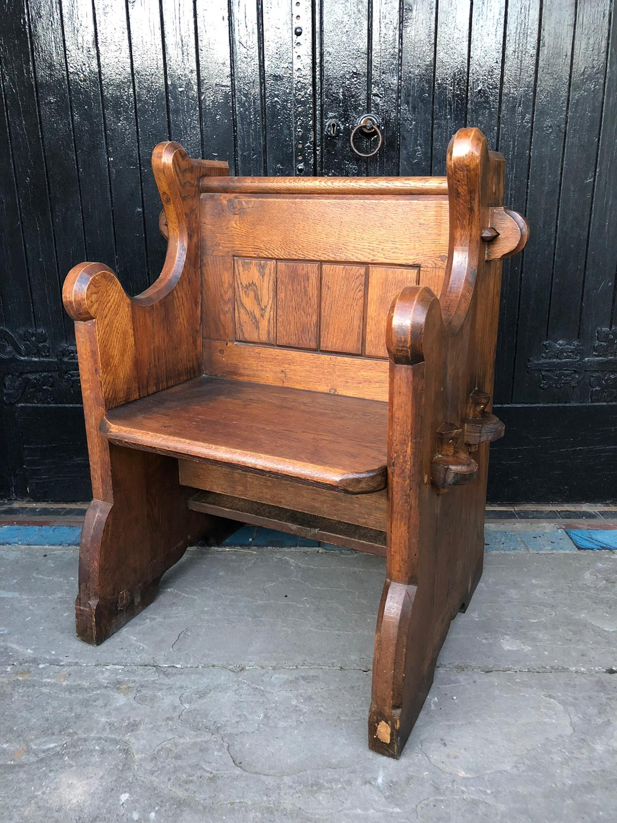 Solid Oak 2ft Church Pew Seat